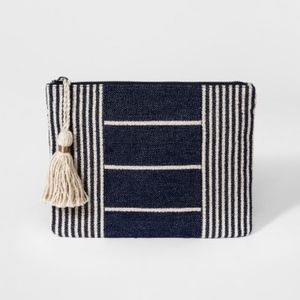 NWT Striped Pouch - Universal Thread™ Navy